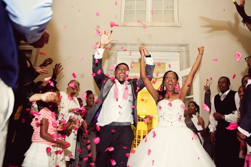 It was a true celebration that day for the newlyweds