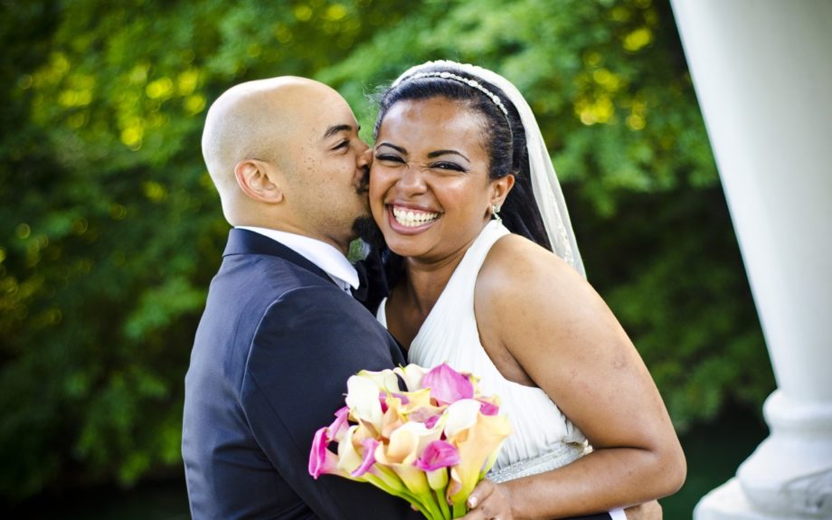 Are they stunning? Damon and Bileen Packwood tie the knot on June 1, 2012