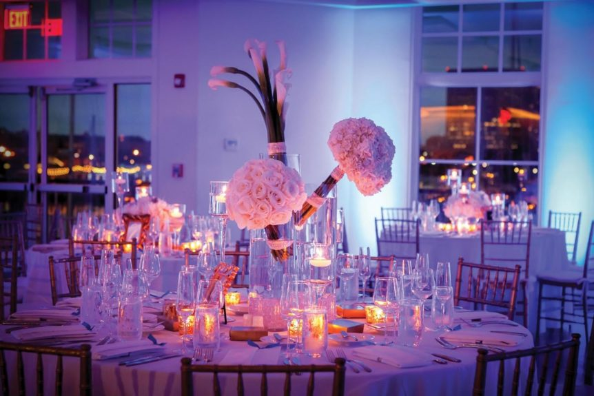 The candle lit reception tables made for an elegant setup for guests to feel warm and cozy and surrounded by love