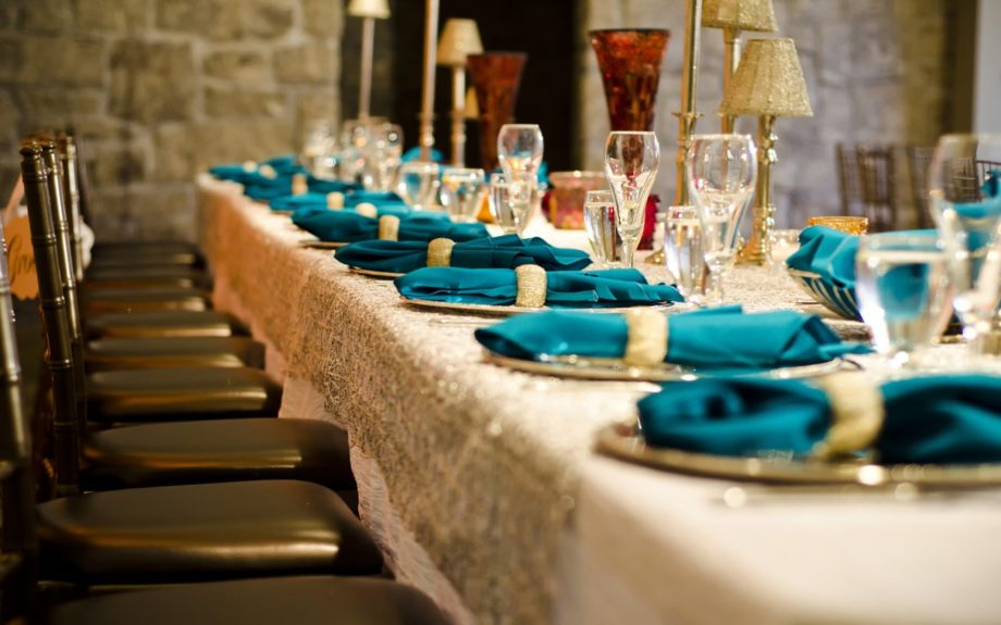 The reception table setting