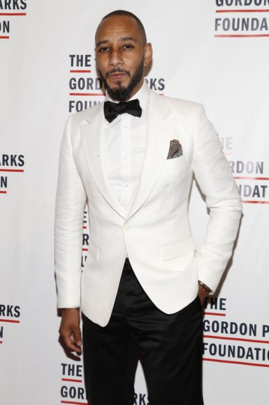 Swizz Beats arrives at the Gordon Parks Foundation Awards Dinner and Auction.