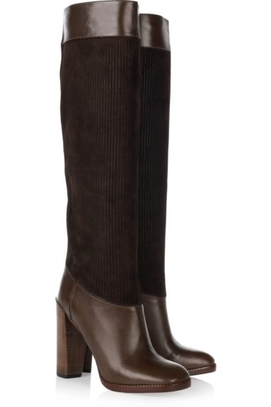 Marc by Marc Jacobs Boots: Retail $174 at Outnet.com. These knee-high boots with mixed media of corduroy and leather are a showstopper. They are also a steal at the retail of $174. Available at Outnet.com