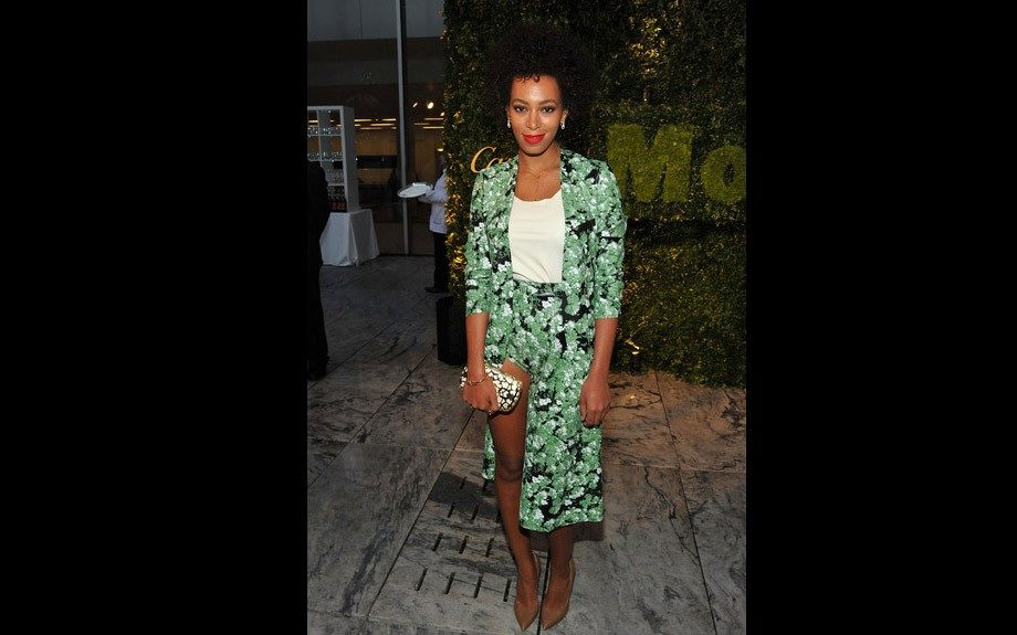 Solange attended the MoMA Party in the Garden Benefit appropriately dressed in a floral ensemble by Flaminia Saccucci