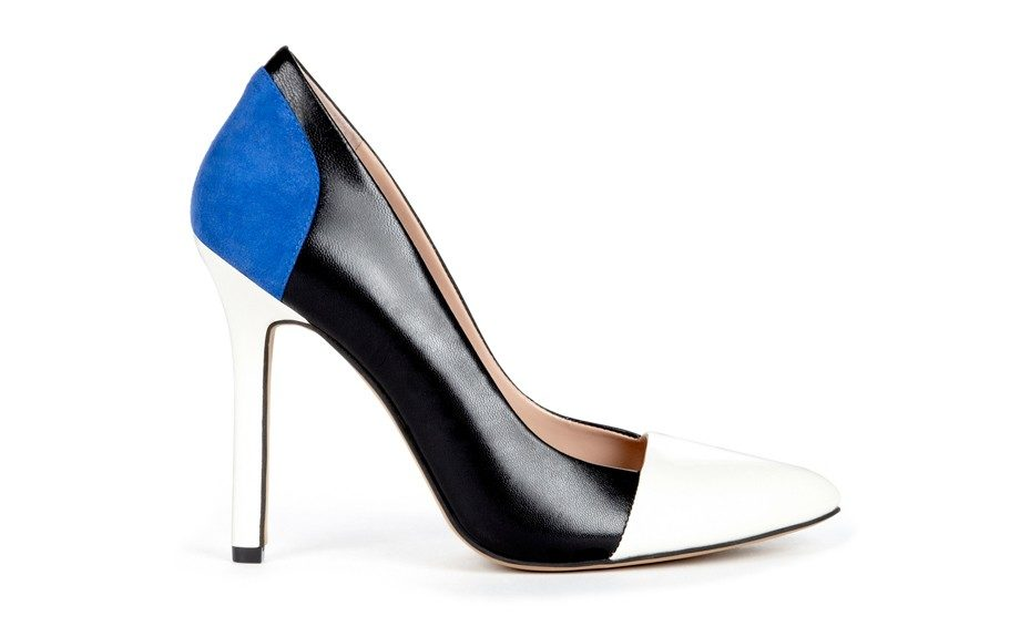 """Julianne Hough for Sole SocietyBlakeleyPump, $39;<a href=""""http://www.solesociety.com/blakeley-black-crema-blue.html"""" target=""""_blank"""">solesociety.com</a>"""