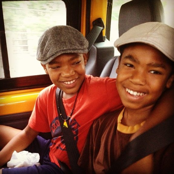 """Our sons: """"Malachi, 12, our first-born, is studious and focused,"""" Shawn says. Ruha adds that Khalil, 10,is the creative spirit. """"In a heartbeat, he'll write a song or a poem. He's enlivened by people and music and dancing."""""""