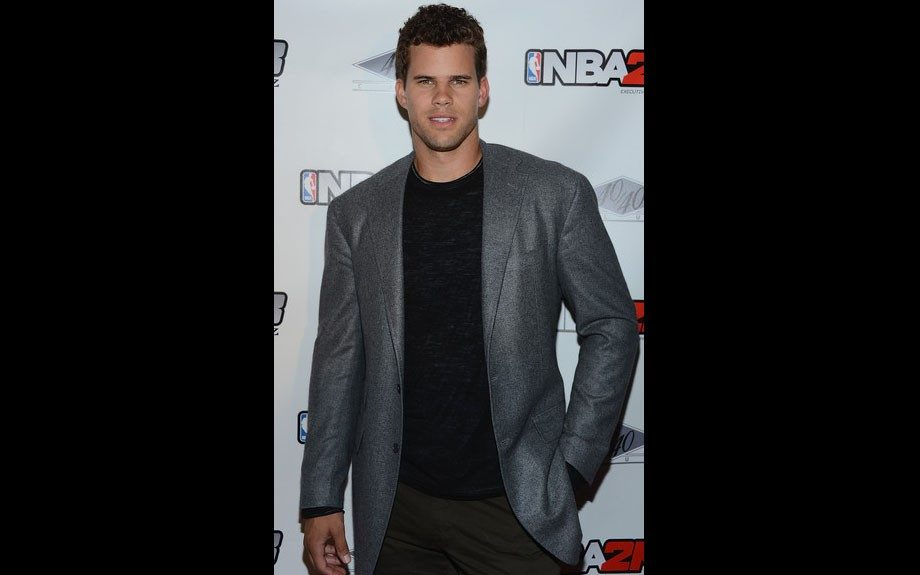 Kris Humphries attended the NBA 2K13 Live event as well in a metallic gray jacket, and black shirt.