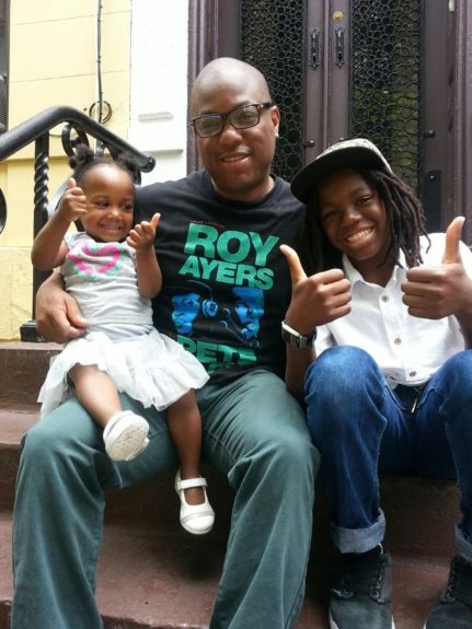 """Thumbs up, Daddy! """"I didn't know how to be a father when I had my son,"""" Anthony says. """"But I am so blessed!"""""""