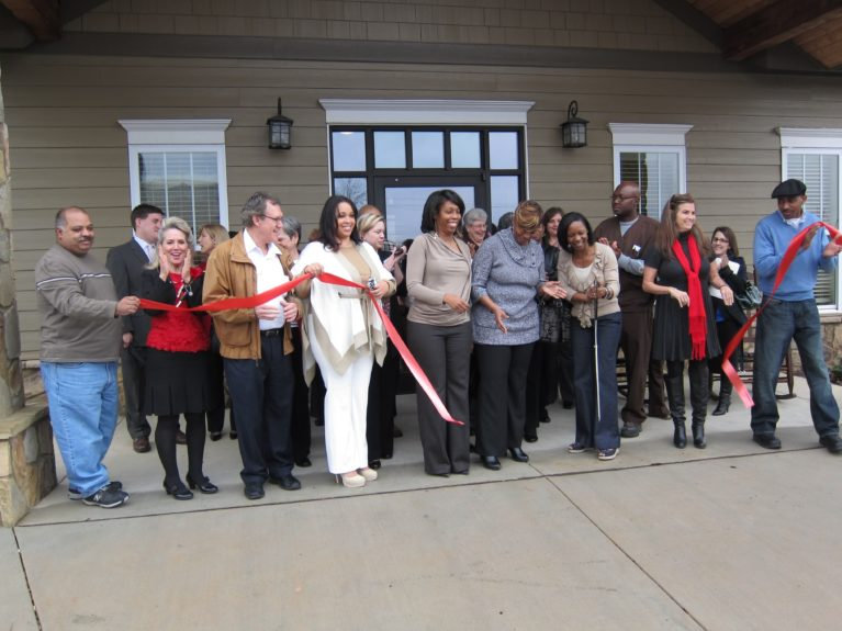 The ribbon-cutting ceremony for Michele's company, Heritage Hospice in Marietta, Georgia.
