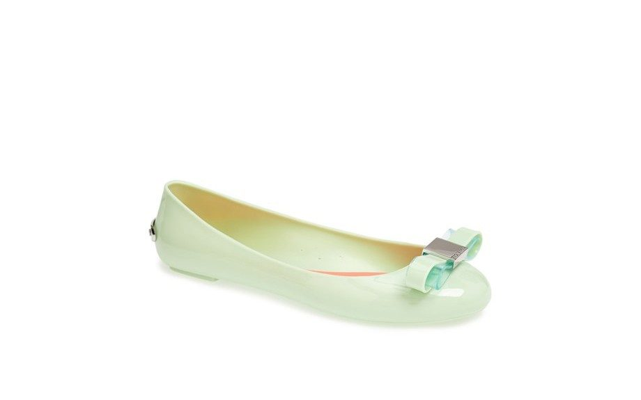 """Add a little shine to your look: Ted Baker London Escinta Flat, $85, <a href=""""http://shop.nordstrom.com/s/ted-baker-london-escinta-flat/3638011?siteId=J84DHJLQkR4-QXJfiZxJupJpXgH2yH4JWw"""">shop.nordstrom.com</a>"""