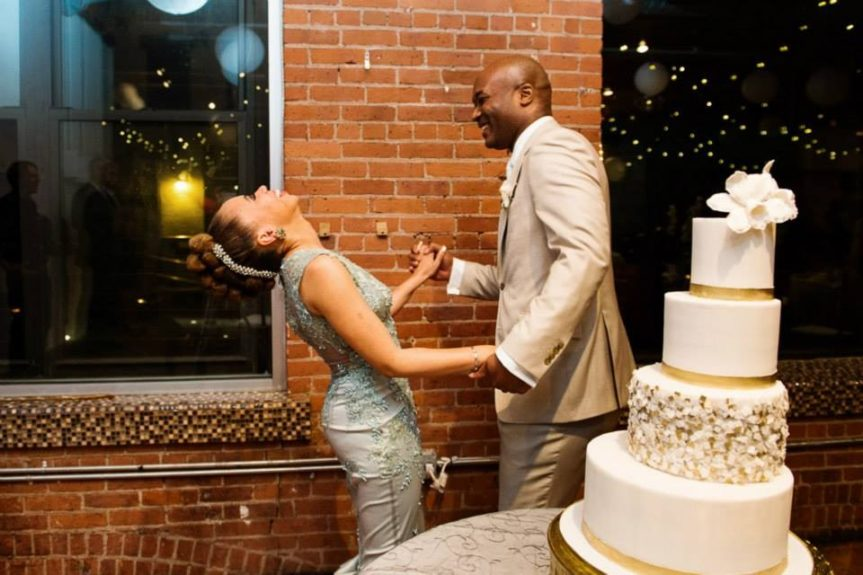 We love them together, but does anyone else notice how gorg that cake is?