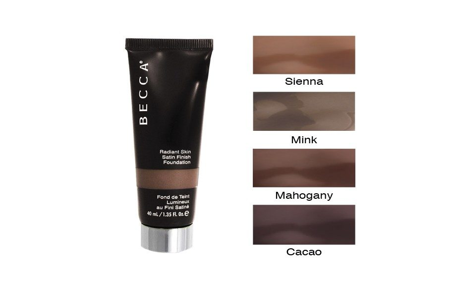 "<strong>BECCA Radiant Skin Satin Finish Foundation</strong> ($42; <a href=""http://www.beccacosmetics.com/us/foundation-finder/by-product/radiant-skin-satin-finish-foundation/"" target=""_blank"">beccacosmetics.com)</a>"
