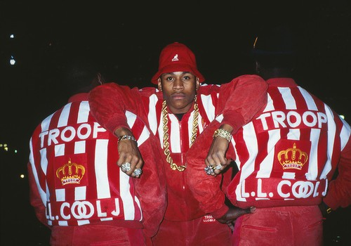Hard as hell: LL Cool J styling and profiling with his Troop-clad crew.