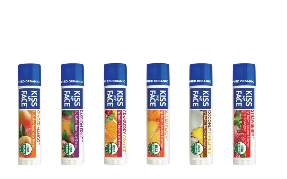 "Kiss My Face also offers great lip balms in a number of flavors that helps heal and prevent chapped lips, $3.49, <a href=""http://www.kissmyface.com/natural-lip-care/item/310/Organic-Passion-Fruit-Lip-Balm"">www.kissmyface.com</a>."