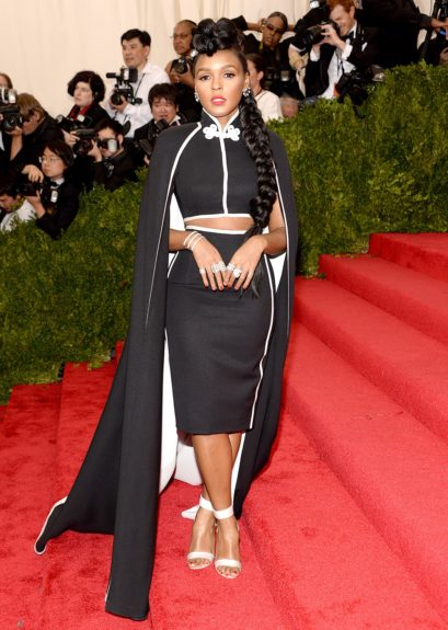 Janelle Monáe at the 2015 Met Costume Institute Gala