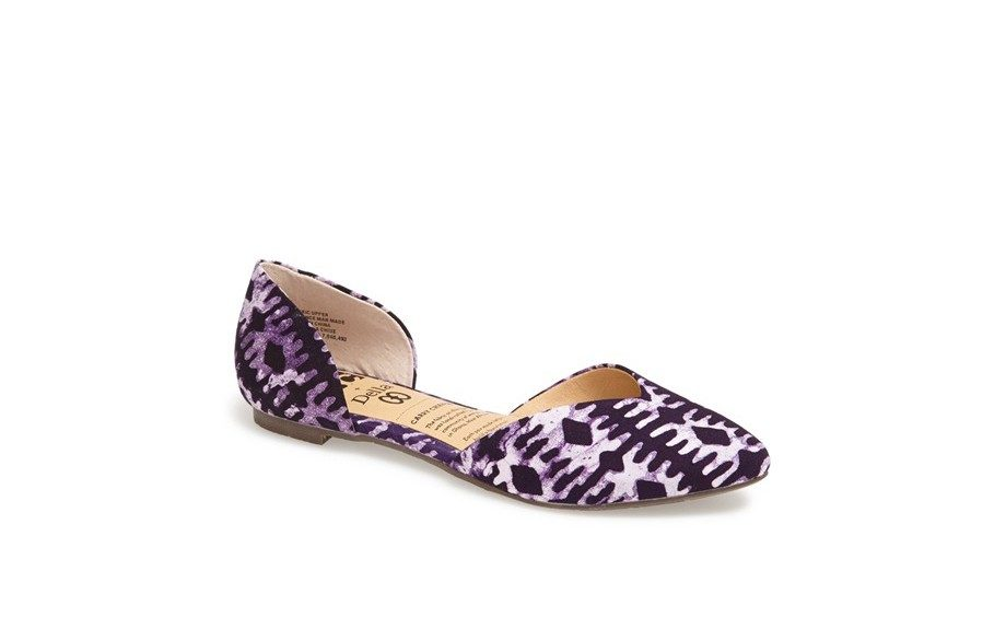"""For a little texture and print: BC Footwear d'Orsay Flat, $60, <a href=""""http://shop.nordstrom.com/S/bc-footwear-up-all-night-dorsay-flat/3716132?origin=category-personalizedsort&contextualcategoryid=0&fashionColor=&resultback=7685&cm_sp=personalizedsort-_-browseresults-_-1_2"""