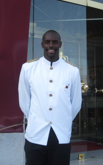 Le Negresco doorman in France