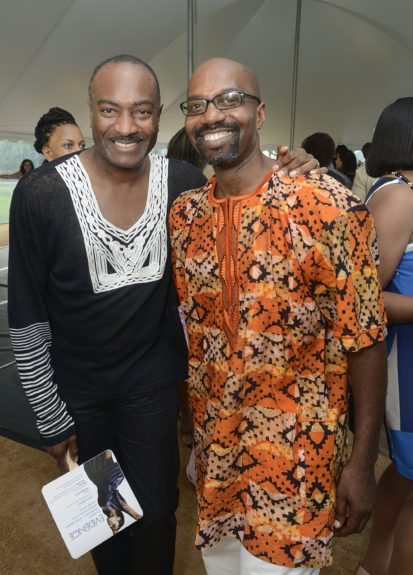 "Reginald Van Lee and Ron Brown attend the Evidence, A Dance Company Hosts 9th Annual ""On Our Toes""...In the Hamptons Summer Benefiton August 18, 2012 in Bridgehampton, New York."