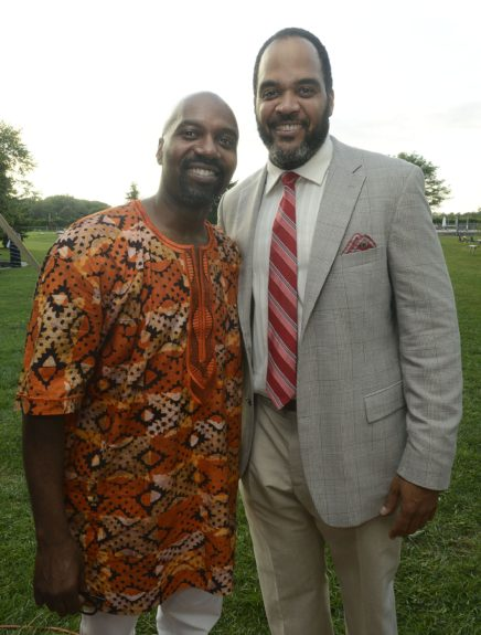 "Ron Brown and Victor Williams attend the Evidence, A Dance Company Hosts 9th Annual ""On Our Toes""...In the Hamptons Summer Benefiton August 18, 2012 in Bridgehampton, New York."