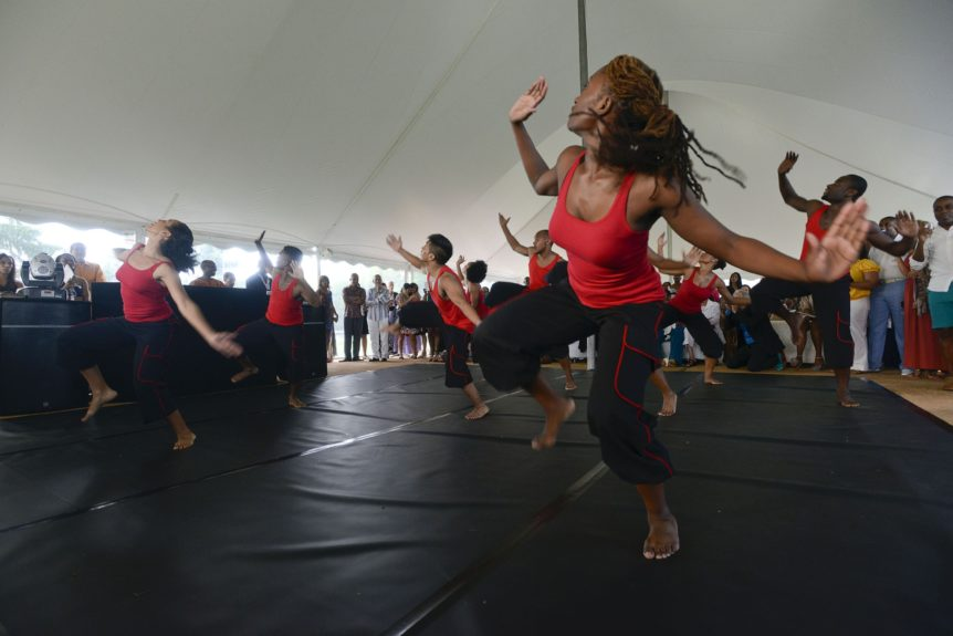 "Evidence, A Dance Company perform at the 9th Annual ""On Our Toes""...In the Hamptons Summer Benefiton August 18, 2012 in Bridgehampton, New York."