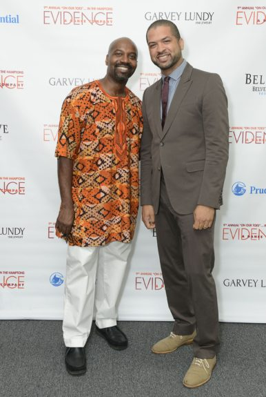 "Ron Brown and Jason Moran attend the Evidence, A Dance Company Hosts 9th Annual ""On Our Toes""...In the Hamptons Summer Benefiton August 18, 2012 in Bridgehampton, New York."