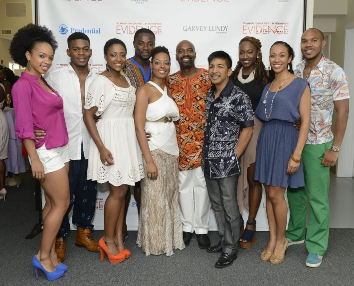 "Ron Brown (center) and The Evidence Dance Company attend the Evidence, A Dance Company Hosts 9th Annual ""On Our Toes""...In the Hamptons Summer Benefiton August 18, 2012 in Bridgehampton, New York."