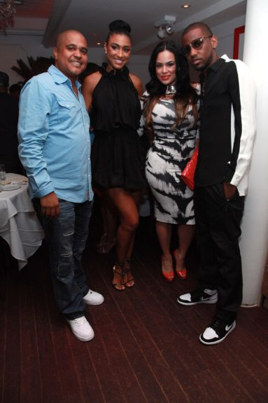 Irv Gotti with friend, Emily B. and Fabolous