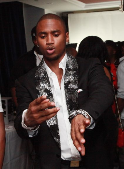 Trey Songz feeling the music