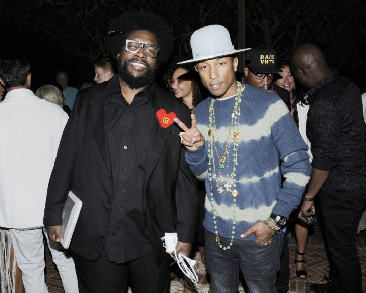 Questlove and Pharrell arrive at the fifth annual Apollo in the Hamptons fundraiser