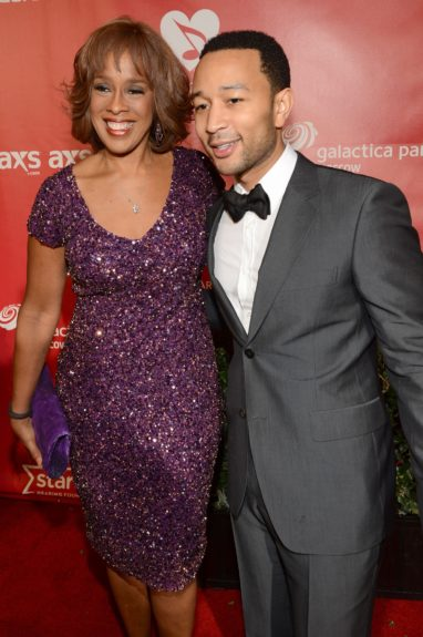 Gayle King commends John Legend on his tight new trim.