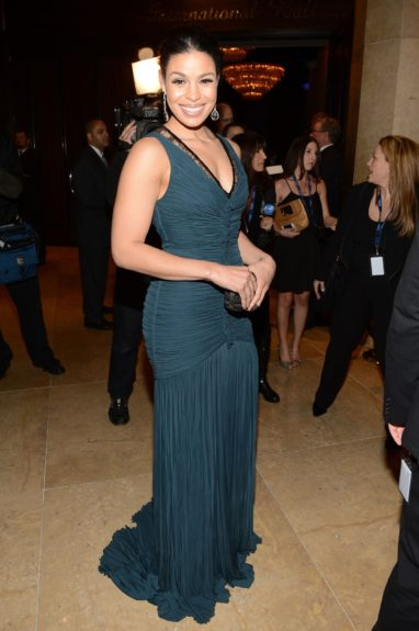 Jordin Sparks takes a solo shot with handler Clive Davis off picking up their Grammy tix.
