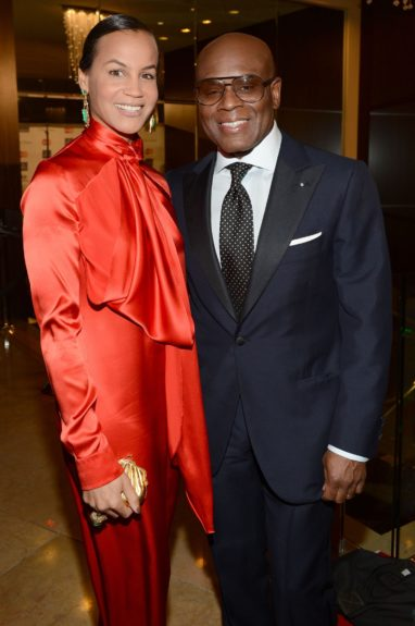 L.A. Reid and Erica Reid, all smiles over the perfect health of the music industry.