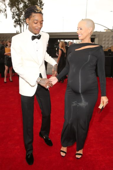 Amber Rose reassuresWizKhalifashe did not, in fact, break water in the limo.