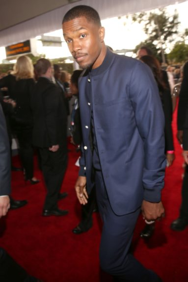 Frank Ocean searches the red carpet crowd for his sweatband.