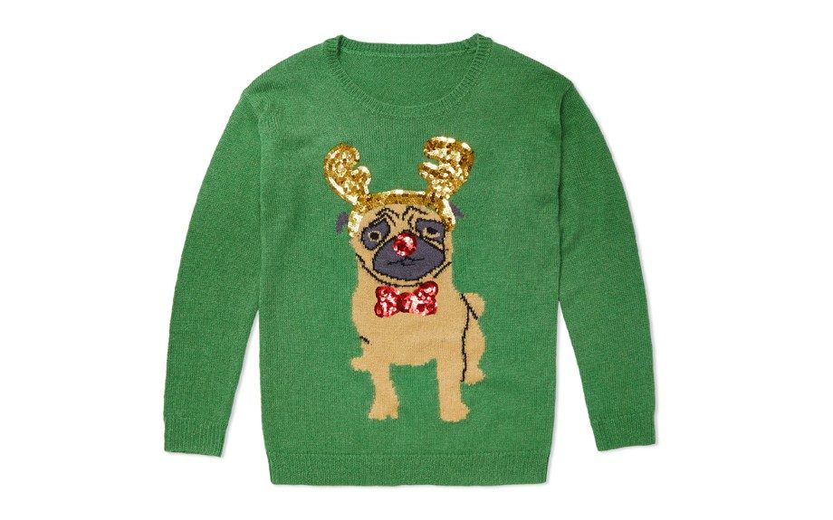 ASOSChristmas Jumper with Pug,$64;