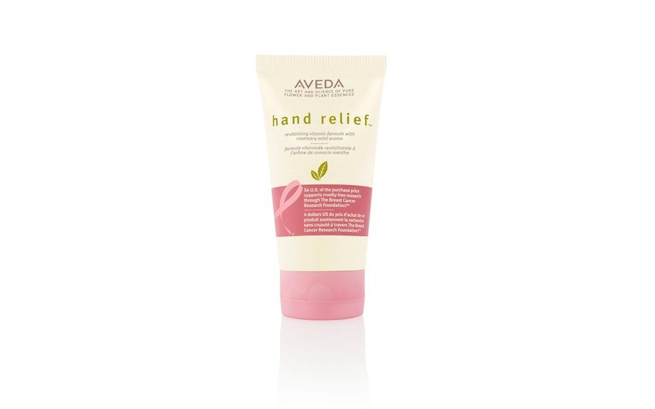 """Moisturized hands never felt so good when you know $4 will go towards the Breast Cancer Research Foundation if you buy this Aveda limited edition Hand Relief With Rosemary Mint Aroma. ($24.50, <a href=""""http://www.aveda.com"""">www.aveda.com</a>)"""