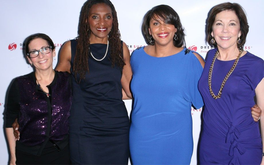 Bobbi Brown, Rev. Shirley Canty, Joi Gordon, CEO of Dress for Success Worldwide, Maureen Chase