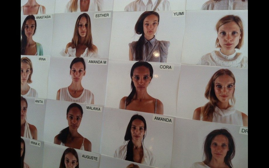 The model chart for Milly! We spy tons of Black models.