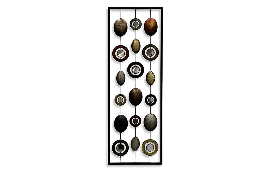 """Metal Mirror Wall Piece,<strong>$29.99</strong>,<a href=""""http://www.bedbathandbeyond.com/store/product/Metal-Mirror-Wall-Decor-in-Circle-Panel-I/1040268170?categoryId=12195"""">http://www.bedbathandbeyond.com/</a>"""