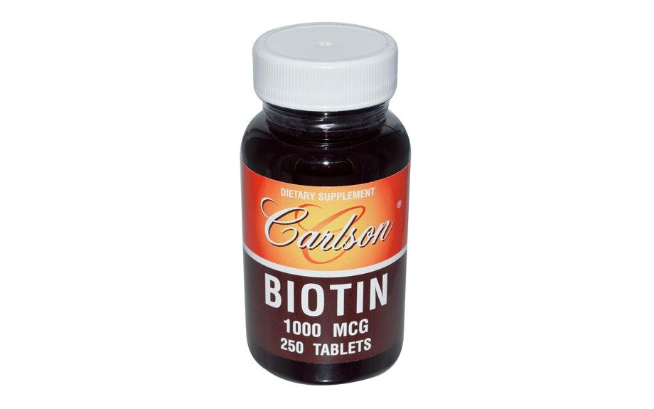 """Dr. Ro also recommends Carlson biotin supplements that contain 1,000 mcg (or 1 mg) per tablet, $8.90, <a href=""""http://www.carlsonlabs.com/p-118-biotin.aspx"""">carlsonlabs.com</a>."""