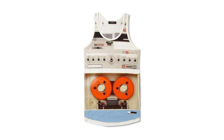 "Tape Deck Vest - <a href=""http://www.mrporter.com/product/411924"" target=""_blank"">Givenchy</a> $725"