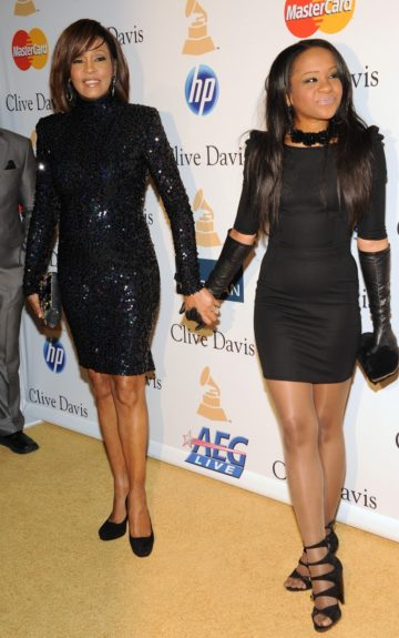 Whitney and Bobbi at Pre- Grammy Gala in Beverly Hills, CA in February 2011