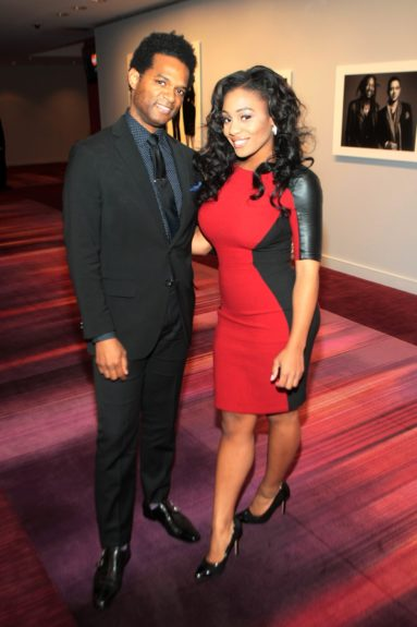 EBONY.com arts-culture editor Miles Marshall Lewis with WBLS'sEeshé White