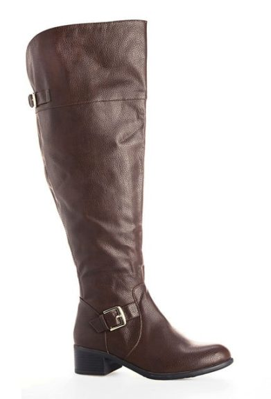 "<font size=""2""><span style=""font-size:10pt;"">These boots go up to a size 13 and offer a wide width and stretch panel at the calf.<br /> 	Avenue Madrid Boots ($40; avenue.com)</span></font>"