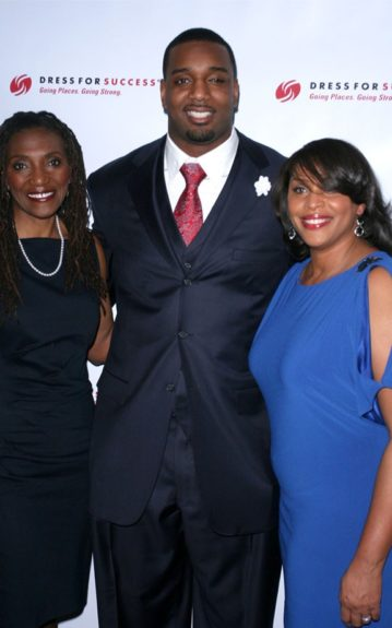 Rev. Shirley Canty with son Chris Canty and Joi Gordon