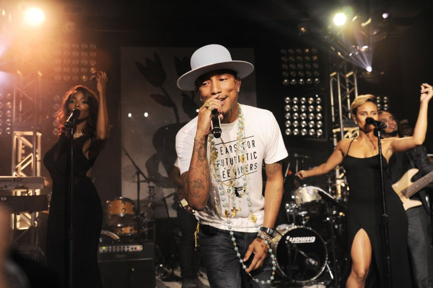 Pharrell gets happy at the fifth annual Apollo in the Hamptons fundraiser
