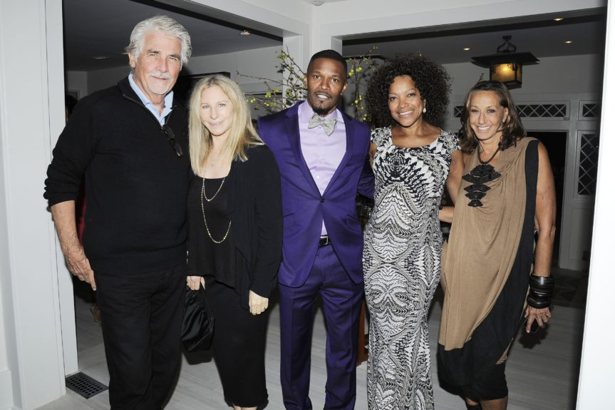 Barbra Streisand, Jamie Foxx and guests at the fifth annual Apollo in the Hamptons fundraiser