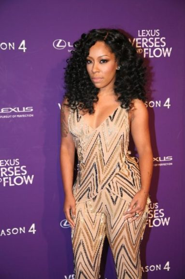 K. Michelle tapes 'Verses and Flow' at Siren Studios in Hollywood