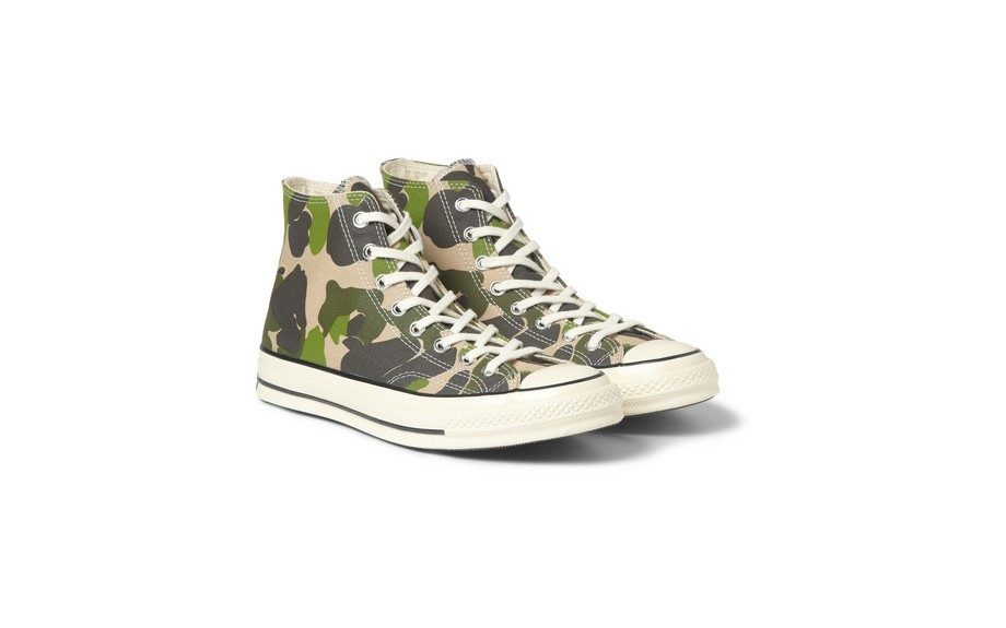"""<strong>Wear them to your girl's family cookout on Saturday.</strong> <a href=""""http://www.mrporter.com/product/429646"""" target=""""_blank"""">Converse Printed High Top Sneakers, $90.</a>"""