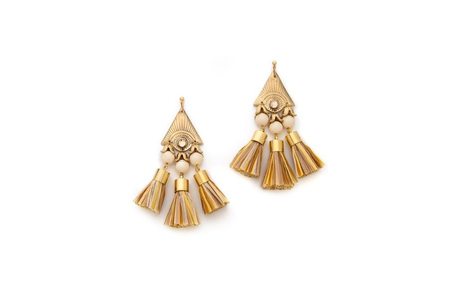 Going to a tropical spot this summer? Make sure you have these Holst + Lee Tiki Earrings packed to complement your trip, $155,