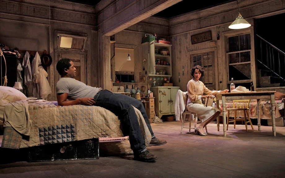 Nicole Ari Parker's Blanche DuBois is interrogated by her brother-in-law Stanley. (Photo by Ken Howard)
